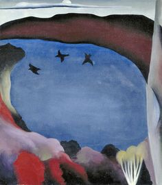 Georgia O'Keeffe (1887-1986), Lake George with Crows, 1921. oil on canvas, 72 x 63 cm