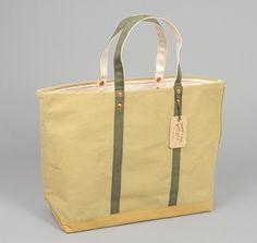 STANLEY & SONS: Coal Bag w/ Cloth Handles, Printed Harvest Tan