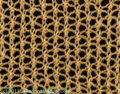 Buckminster Fuller; MO 4+3 Lace Knitting Stitches, Lace Knitting Patterns, Stitch Patterns, Yarn Projects, Knitting Projects, Buckminster Fuller, Knit Crochet, Cross Stitch, Crafty