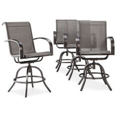 Threshold™ Camden 4 Piece Sling Balcony Height Patio Swivel Chair Set