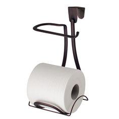Buy InterDesign Axis Metal Toilet Paper Holder, Over the Tank Tissue Organizer for Bathroom Storage, x x Bronze Bronze Bathroom Accessories, Bath Accessories, Bathroom Tray, Bathroom Storage, Bathroom Ideas, Hall Bathroom, Bathrooms, Recessed Toilet Paper Holder, Tissue Paper Roll
