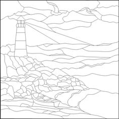 Lighthouse Stained Glass Pattern