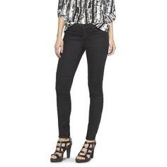 Mid-Rise Moto Jeans Legging (Slim Fit) Black - Mossimo®