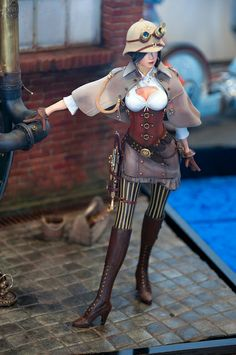 Steampunk model figure.