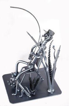 Fisherman Unique Collectible Metaldiorama Metal by MetalDiorama