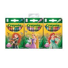 Toda criança gosta muito de expressar sua criatividade desenhando e pintando. Com o Giz de Cera Crayola Princesas, as meninas terão em mãos um produto de altíssima qualidade, e com o tema das princesas mais queridas da Disney.   Com eles, elas vão poder colorir e desenhar com muita alegria e diversão. A embalagem contém 24 gizes diversos.