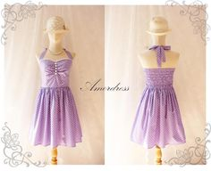 Purple Party Dress Vintage Inspired Party Tea Dress
