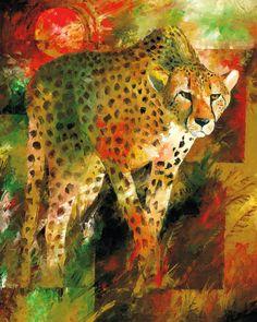 Cheetah Painting by christiaanbekker on Etsy, $115.00