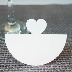 Wobbly LOVELY HEART design Wedding Party place name cards Happiness Escort