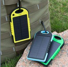 Solární nabíječka 5V 1A s akumulátorem 5000mAh - modra