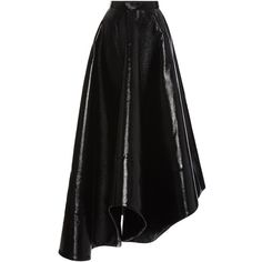 Rosie Assoulin Zorro Faux Leather Skirt ($2,395) ❤ liked on Polyvore featuring skirts, pleated skirt, faux leather pleated skirt, fake leather skirt, faux leather skirt and vegan leather skirt
