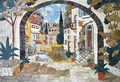 Beautiful landscape mosaics | ... Mozaica ...no artist names given on the website! What is that about?
