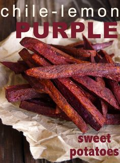 Chile-Lemon Roasted Purple Sweet Potato Fries by Cooking On The Weekends