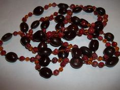 Brown & Amber Beaded 72 Continuous Inch by GrammyKayesCreations
