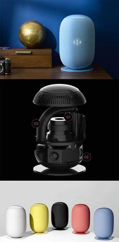 The 'Whyd' is a pretty cool speaker, its cylindrical shape gives it a hardware… Id Design, Sound Design, Form Design, Presentation Layout, Product Presentation, Color Plan, Industrial Design Sketch, Speaker Design, Yanko Design