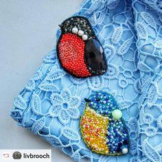 """#Rensta #Repost: @livbrooch via @renstapp ··· """" Помните малютку? Теперь их стало сразу две  Они с радостью украсят Ваше весеннее настроение  И станут отличным дополнением к новому образу  . . #brooch #handmade #beadsbrooch #beadsbrooch #handmadebrooch #birds #spring #acsessories #jewellery #jewellerylover #jewelry #fashion #blog #design #titmouse #tit #lace #girls #pin #available #riga #latvia #livbrooch """""""