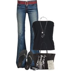 A fashion look from June 2014 featuring Maison Martin Margiela tops, J Brand jeans and Henri Bendel flip flops. Browse and shop related looks.