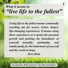"""Time for motivational quotes by wordsynergy Excerpt from: What it means to """"live life to the fullest""""  by  #ZeroDean @zerodean.official  source  http://ift.tt/1JJFtTs  #zerosophy #motivation #motivationalquotes #inspiration #inspirationalquotes #awesomewords #wisdom #wordsofwisdom #quote #quoteoftheday #qotd #lifequotes #livelifetothefullest #livelife #taoofzero #lifechanging #experience #health #fitness #attitude #grow #change #spiritual #pushforward #happiness #career #work…"""
