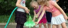 Genius Dad Figures Out Way To Fill 37 Water Balloons In 20 Seconds. Lots of wasted plastic when done, but might be worth a try on special occasions.