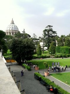 Vatican Museums Gardens and St. Peter's Cathedral