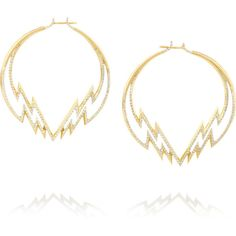 Venyx Electra 18-karat gold diamond hoop earrings ($15,505) ❤ liked on Polyvore