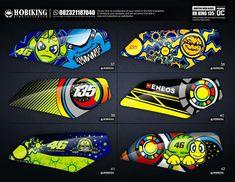 Motorcycle Decals, Custom Paint Motorcycle, Custom Bikes, Yamaha Rx 135, Motos Yamaha, Motogp Valentino Rossi, Racing Car Design, Game Logo Design, Car Wrap
