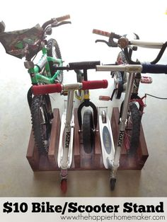 Diy $10 Wood Bike Rack