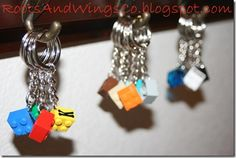 Lego party favor keychains