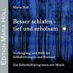 Vorbeugung und Hilfe bei Schlafstörungen und Burnout. Achtsamkeitsbasierte Übungen mit Musik. Besser schlafen kann jeder lernen! Die vorgestellten Achtsamkeits-, Atem- und Entspannungsübungen sind Teil der bewährten Maria Holl Methode (MHM). CD / ISBN 978-3-00-025175-7