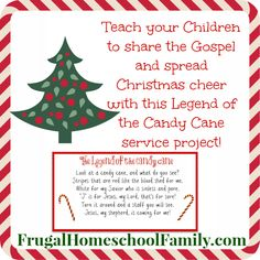 Legend of the Candy Cane Service Project for Kids - Frugal Homeschool Family
