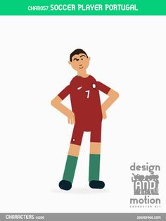CHAR057_SoccerPlayerPortugal. Part of D&M Character Kit.