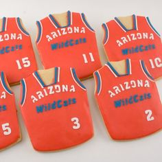 Basketball Jersey Decorated Sugar Cookies  9 Favors by TSCookies via Etsy