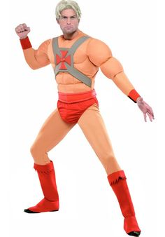 HE-MAN COSTUME! great for superhero or themed events such as comic con or World Book Day. 80s Themed Fancy Dress, Superhero Fancy Dress, Super Hero Outfits, Super Hero Costumes, Costumes For Sale, Adult Costumes, He Man Costume, Blockbuster Film, Man Logo