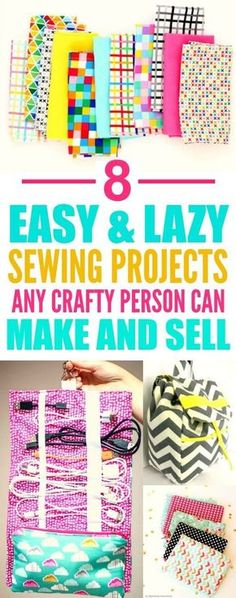 These 8 easy sewing projects you can make and sell are THE BEST! I'm so glad I…