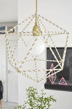DIY lámpa arany tilka textilkábel