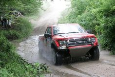 Red Ford Raptor SVT F-150 Racing