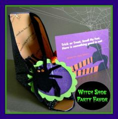 Witch Shoe Party Favors #Halloween #DIY #Favors