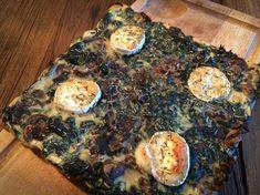 Quiche sans pâte épinards, champignons, thon et chevre – 6 SP