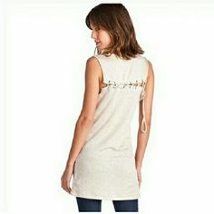 Lace up Back Top You can wear it as a top, or a dress.   Add leggings and pair with sandals or boots for a comfy boho look. April Spirit Tops Tunics