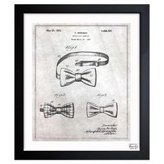 A nostalgic touch for your living room or den, this handsome print showcases a patent drawing reproduction and sleek black frame.   Product: Framed art printConstruction Material: Paper and woodColor: Black frameFeatures:  Made in the USAReady to hangCleaning and Care: Dust lightly