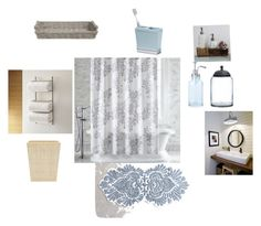 """""""Perfect bathroom"""" by cms-teacher on Polyvore featuring interior, interiors, interior design, home, home decor, interior decorating, Anthropologie, Crate and Barrel, Paradigm and LaMont"""