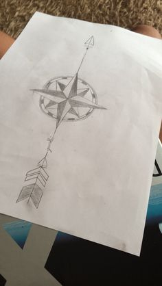 #Arrow #with #compass #rose