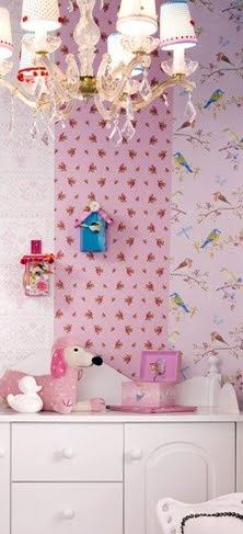 Wall Paper Pip Studio - très girly !  love the wallpaper