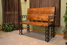 Horseshoe Bench Bench Horseshoe Art Home Decor Western image 0 Cool Welding Projects, Welding Crafts, Diy Welding, Metal Projects, Metal Welding, Welding Ideas, Blacksmith Projects, Welding Tools, Woodworking Projects