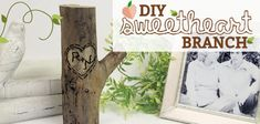 How to Make a Gift Idea for Couples Sweetheart Branch Craft Stick Crafts, Crafts For Kids, Diy Crafts, Wood Crafts, Craft Sticks, Mason Jar Crafts, Bottle Crafts, Countertop Makeover, Painted Mason Jars