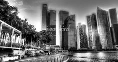 """Black and White Cityscape Singapore  Sale  """"Black and White Series, Urban City Singapore"""" by William Yee Khai Teo, Singapore // Black and White Series, Urban City Singapore // Imagekind.com -- Buy stunning, museum-quality fine art prints, framed prints, and canvas prints directly from independent working artists and photographers."""
