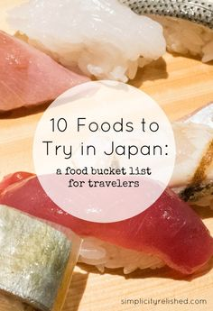 Japan is quite possibly the true food capital of the world! With more Michelin-starred restaurants in Tokyo than any other city, this is THE place for foodies! Check out what you should eat should you find yourself in Japan!