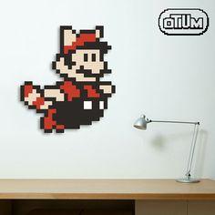 Shared by otiumpixels #8bits #microhobbit (o) http://ift.tt/1OteqQ5 no tempo para a era dos 8bits com esse Mario de Super Mario Bros 3. Nas proporções de 27x24 pixels e preços a partir de R$ 70. Contato por whats app 98996 6434.  #lojaotium #otiumpixels #pixelart  #popart #decoração #geek #nerd #supermariobros #nintendinho #mario #artedigital #pixels #pixel #criatividade #retro #nostalgia #infancia