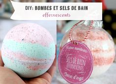 Tuto: bombes de bain façon Lush et sels de bain effervescents fait-maison Gift ideas Handmade bath bombs with luscious and foaming bath salts Handmade Christmas Gifts, Christmas Diy, Homemade Gifts, Diy Gifts, Diy Cadeau Noel, Lush Bath Bombs, Bath Salts, Quelque Chose, Bien Entendu