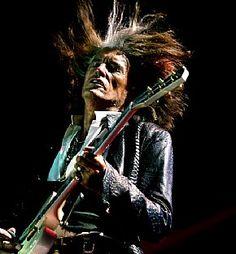 Joe Perry of Aerosmith gets electric at Salinas Sports Complex in Salinas, Calif., July 10. (Mike Oberg/Pollstar) #JoePerry #Aerosmith